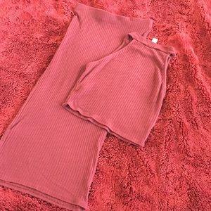 Dresses & Skirts - Crop Top & Midi Skirt - Matching Set